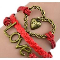 Armband Hjärta & LOVE
