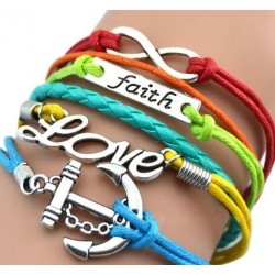 Armband Infinity, LOVE, ankare & text