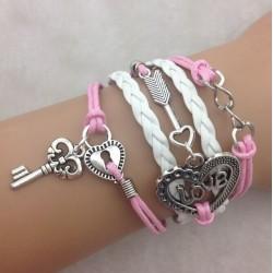 Armband Nyckel, lås, & LOVE