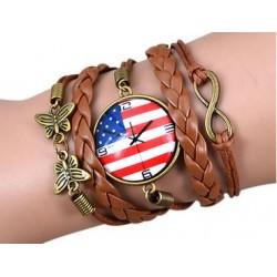 Armband Klocka (USA logga), Infinity och fjäril