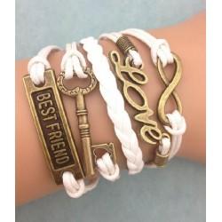 Armband Infinity, LOVE, nycket & Best friend