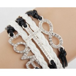 Armband Infinity, kors & love