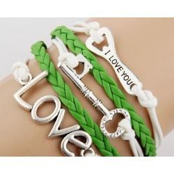 Armband Love, Nyckel & kapsylöppnare