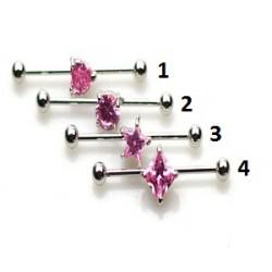 Barbell 35mm * 1,6mm * 5mm rosa