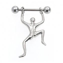 Bröstsköld klättrande/hängande gubbe