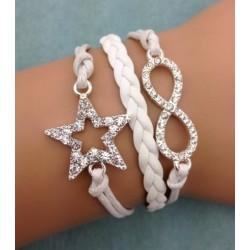 Armband stjärna & infinity