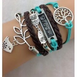 Armband Träd, Dream, ugglor & fågel