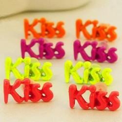 1 par örhängen Kiss