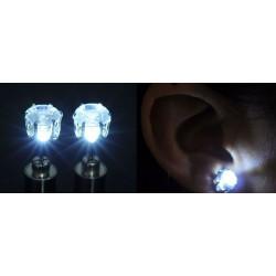 1 par örhängen som lyser, Vit