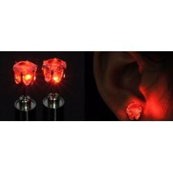 1 par örhängen som lyser, Röd