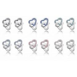1 par hjärtformade örhängen