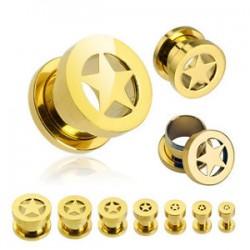2 tunnlar 5mm-18mm (stjärna), guldpläterad