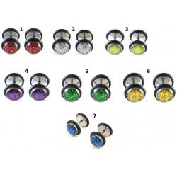 1 par fake Piercings olika färger