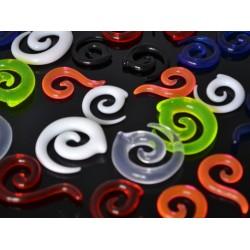 Töjningspiercing (spiral) 2mm-8mm