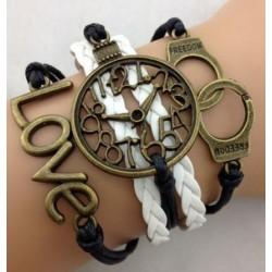 Armband Handklovar, LOVE & klocka