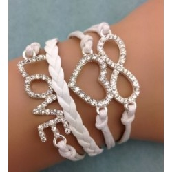Armband LOVE, hjärta & Infinity