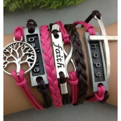 Armband Träd, Believe, Faith, Infinity, Hope & kors