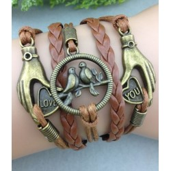 Armband Händer & fåglar