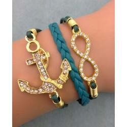 Armband Infinity & ankare