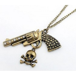 Halsband berlock pistol