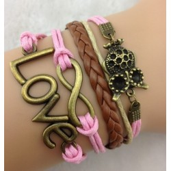 Armband Love, infinity & uggla