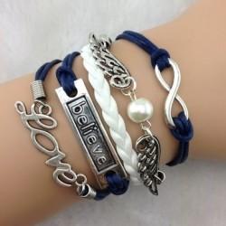 Armband vingar, infinity, LOVE & believe