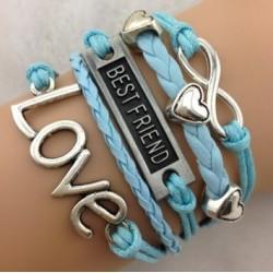 Armband Infinity, LOVE, hjärtan & Best friend