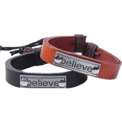 Läderarmband Believe