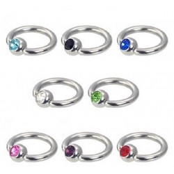 Ring 8mm*3mm*1,2mm, med stenar