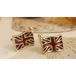 1 par örhänge UK flagga