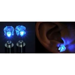 1 par örhängen som lyser, Blå