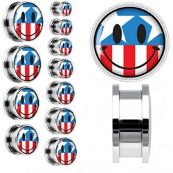 2 Tunnlar 6mm-20mm med USA smiley